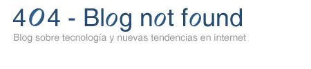 404 - Blog not found