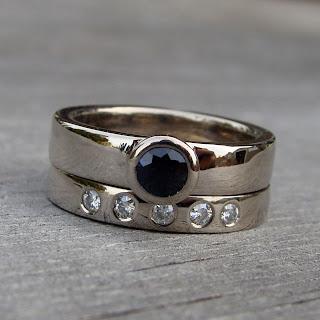 sapphire wedding set