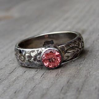 padparascha sapphire ring