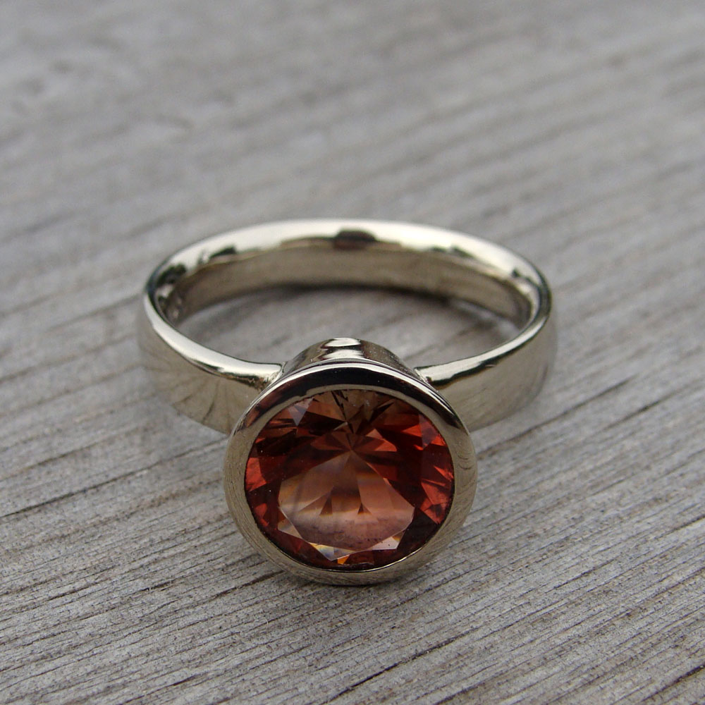 ring champagne a kind sunstone products rings one stone sun of engagement wwake and img diamond nestled