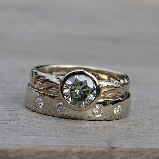 white gold moissanite