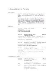 Curriculum Vitae de la Diputada