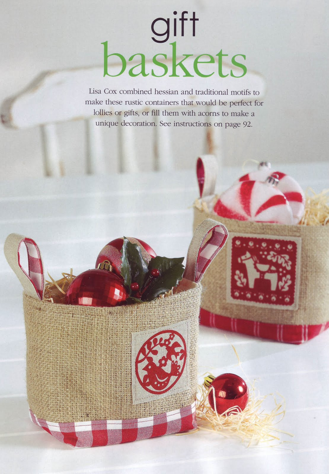 Handmade Gifts Baskets : More christmas projects a spoonful of sugar