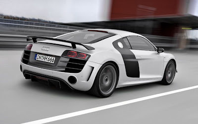 2011 Audi R8 GT Rear Side Action View