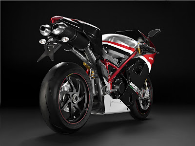 2010 Ducati 1198S Corse Special Edition Rear Angle View