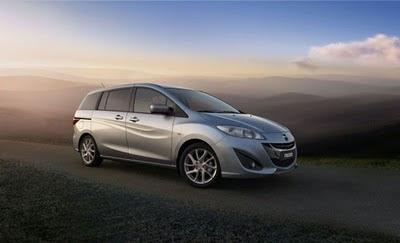 Mazda5 Side Angle View