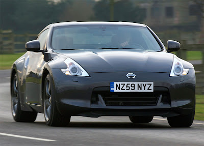 2010 Nissan 370Z Black Edition Front Angle View