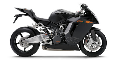 2010 KTM 1190 RC8 Black Color