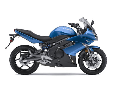 2010 Kawasaki Ninja 650R Blue Color