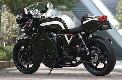 Honda CB750 Cafe Type Motorimoda Rear Angle View