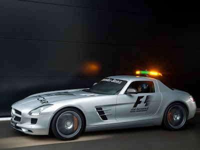 2010 Mercedes Benz SLS AMG F1 Safety Car Side View