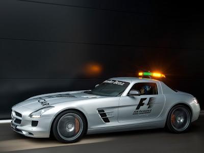2010 Mercedes Benz SLS AMG F1 Safety Car Side View