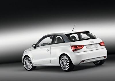 2010 Audi A1 e-Tron Rear Angle View
