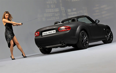 Mazda MX5 Matte Black Special Edition Wallpaper