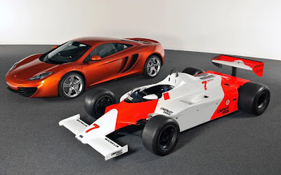 2011 McLaren MP4-12C with F1 Car
