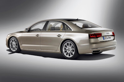 2011 Audi A8 L Rear Side View