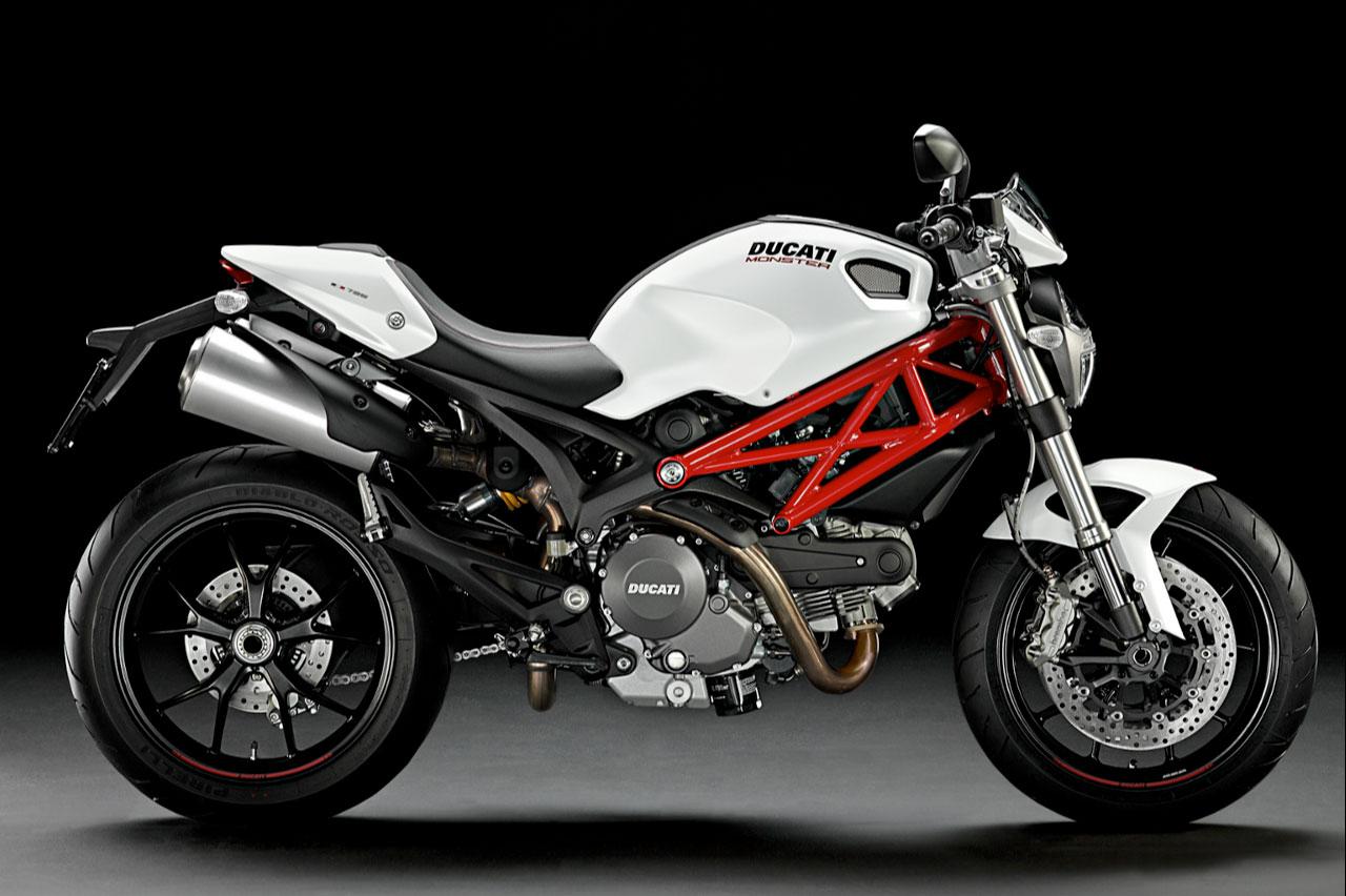 Ducati Monster White Modifikasi Sepeda Motor