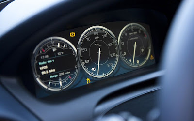 2011 Jaguar XJ L Supercharged Gauges