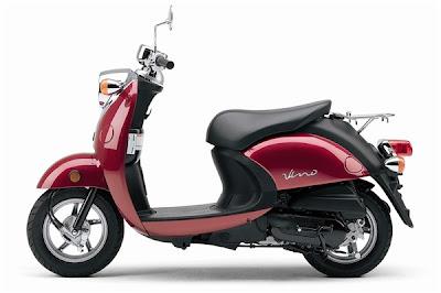 2010 Yamaha Vino 125 Red Color