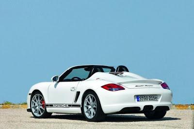 2010 Porsche Boxster Spyder Rear Angle View