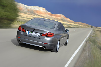 2011 BMW 5-Series Rear Angle View