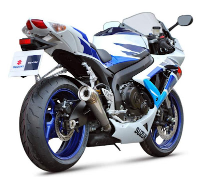 2010 Suzuki GSX-R 750 Limited Edition Rear Side View