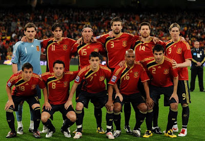 World Cup 2010 Spain Football Team Picture