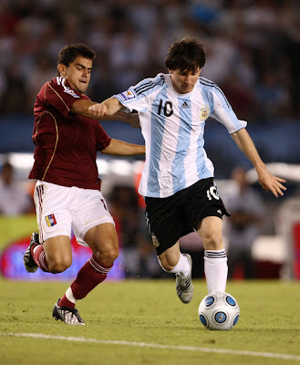 World Cup 2010 Lionel Messi Football Action
