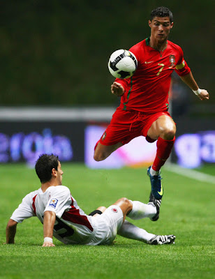 Cristiano Ronaldo Portugal World Cup 2010 Football Action