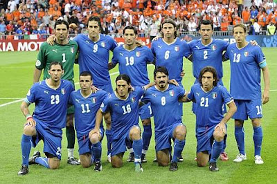 Italy Starting Lineup World Cup 2010 Football Wallpaper