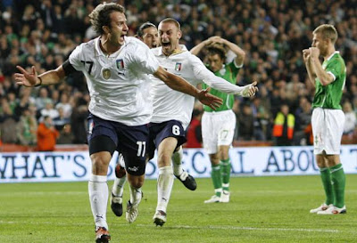 Alberto Gilardino World Cup 2010 Celebration