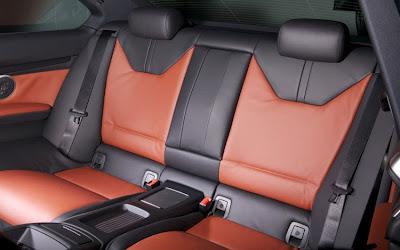 2011 BMW M3 Frozen Gray Coupe Rear Seats Photo