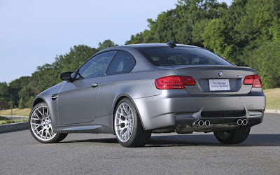 2011 BMW M3 Frozen Gray Coupe Rear Side View