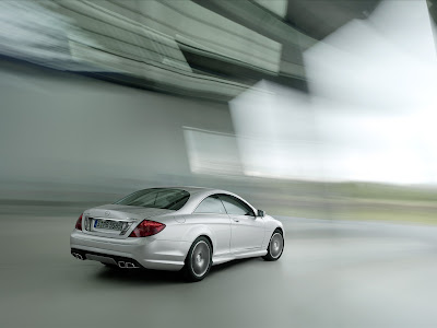 2011 Mercedes-Benz CL63 AMG Rear Side in Motion View