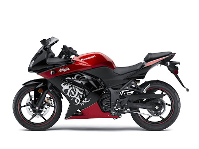 2010 Kawasaki Ninja 250R Red Black