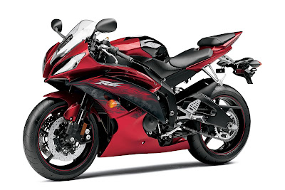 2011 Yamaha YZF-R6 Black Red Color