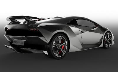 Lamborghini Sesto Elemento Concept Rear Side View