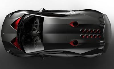 Lamborghini Sesto Elemento Concept Overhead