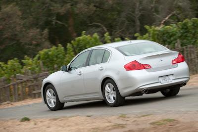 2011 Infiniti G25 Sedan Rear View