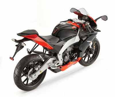 2011 Aprilia RS4 125 Rear Top Side View