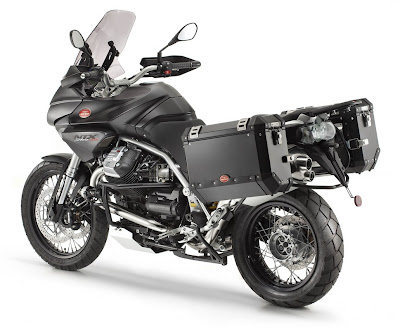 2011 Moto Guzzi Stelvio 1200 Rear Side View