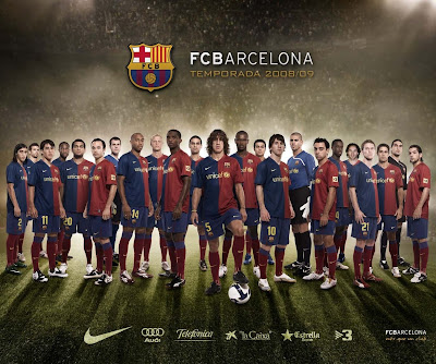 download barcelona fc wallpapers. arcelona fc 2011 team photo.