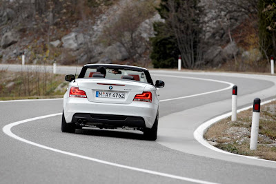 2012 BMW 1 Series Convertible Rear Angle View