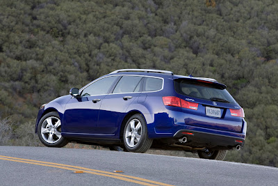 2011 Acura TSX Sport Wagon Rear Side View