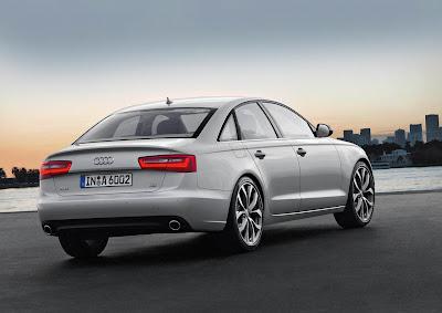 2012 Audi A6 Rear Angle View