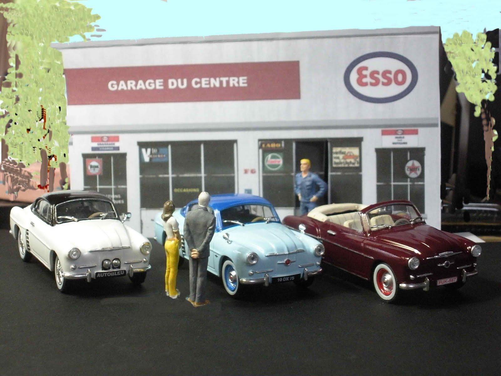Garage de poche renault alpine 4cv autobleu - Garage renault les milles ...