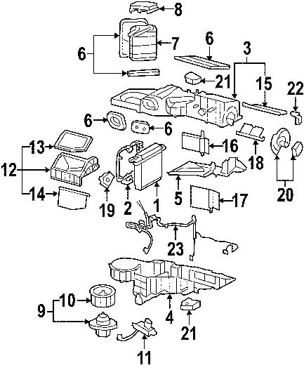 2009 chevrolet silverado 2500 heating and heating parts diagram