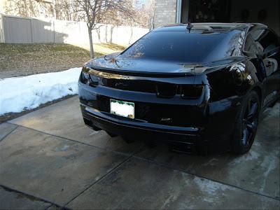 Sick Fully Black Pimped Camaro Dark Knight