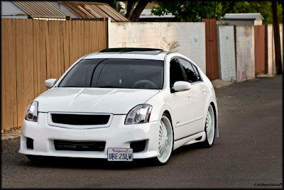 pimped cars pimped nissan maxima 6th gen white. Black Bedroom Furniture Sets. Home Design Ideas