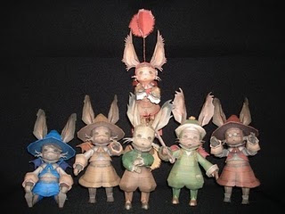 Final  Fantasy XII Papercraft - Moogle Family : Horne, Hurdy, Montblanc &  Sorbet